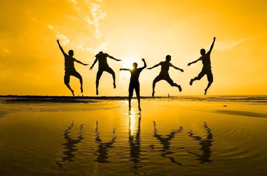 Friends Jumping