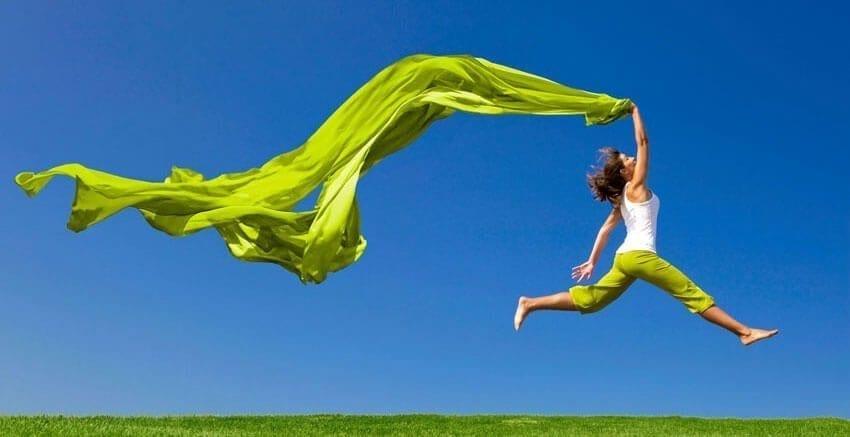 joyful green banner