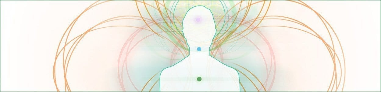 illustration of aura and chakras