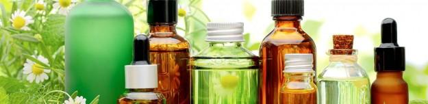 essential oils on a ground