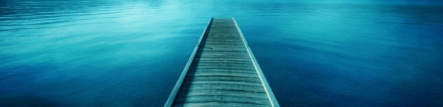 wooden walkway on a lake