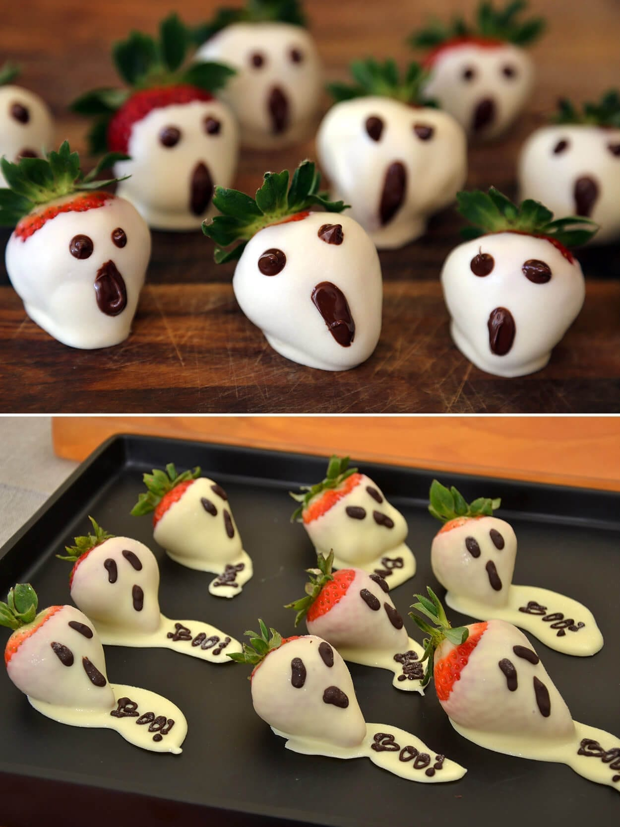 Strawberry Ghosts -Our Top 5 Healthy Halloween Treats for Tricksters