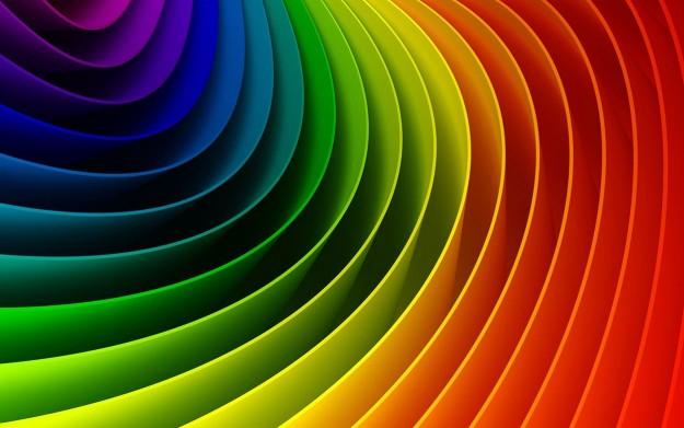 rainbow coloured rings