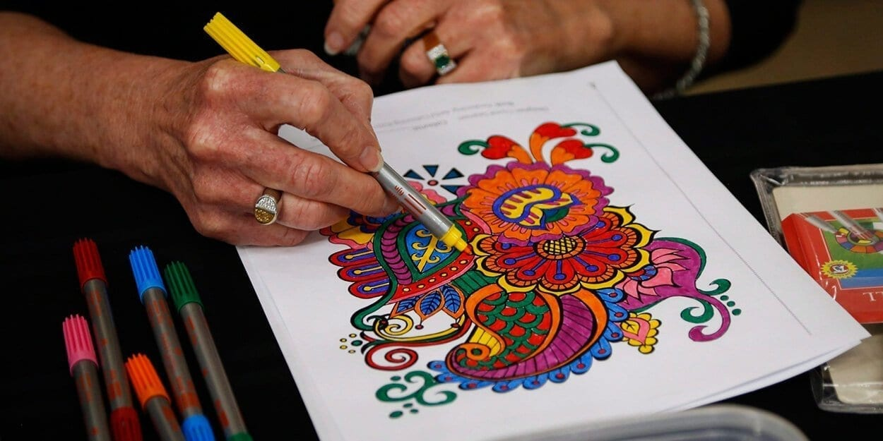 Adult colouring - Top trending crafts for stress relief