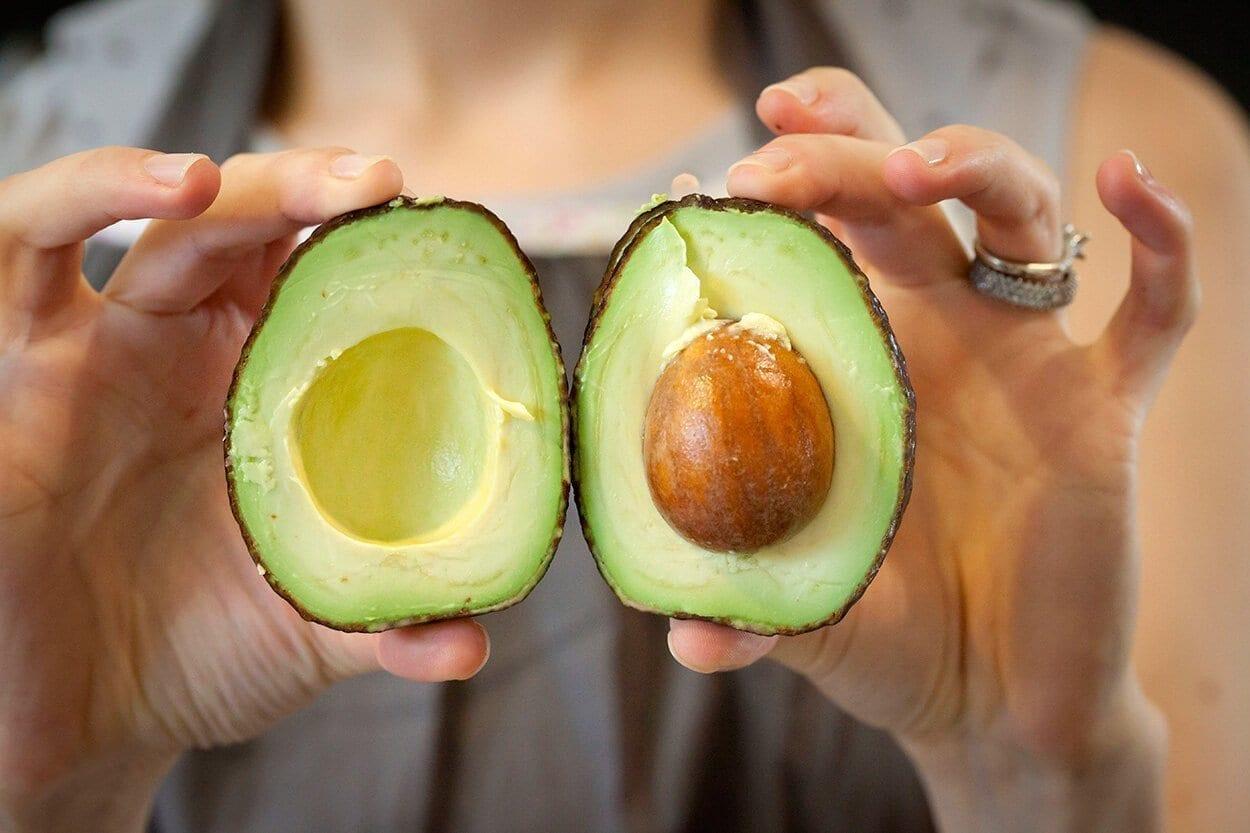 avocado chopped in half