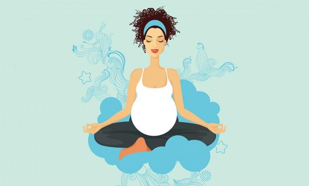 prenatal yoga illustration