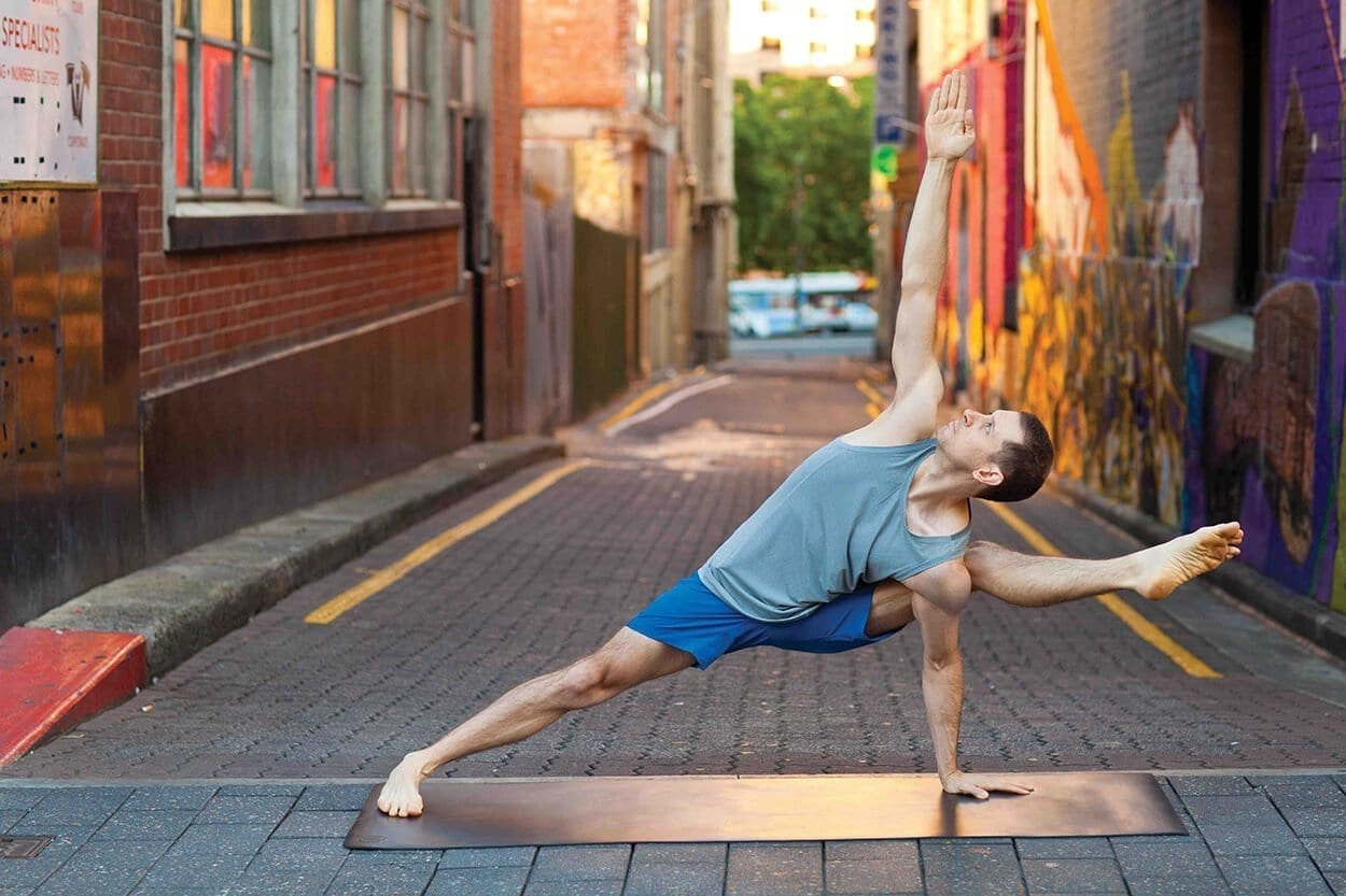 man in a yoga pose