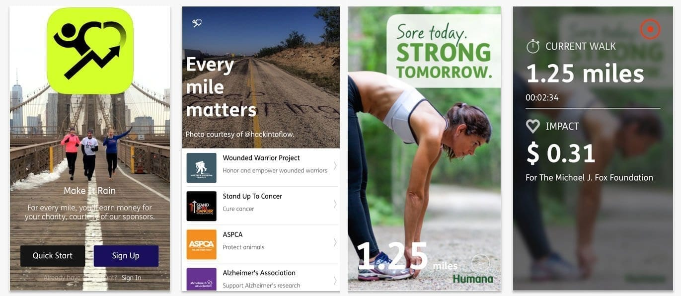 Charity Miles - A great app to keep your health on track