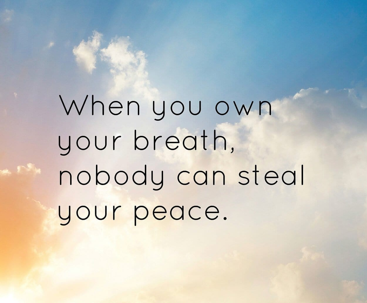 breath and peace quote