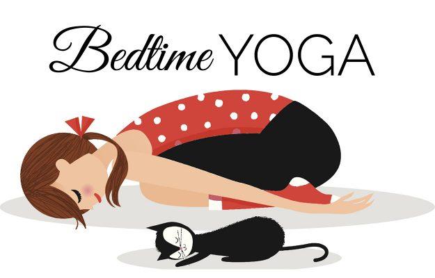 bedtime yoga illustration