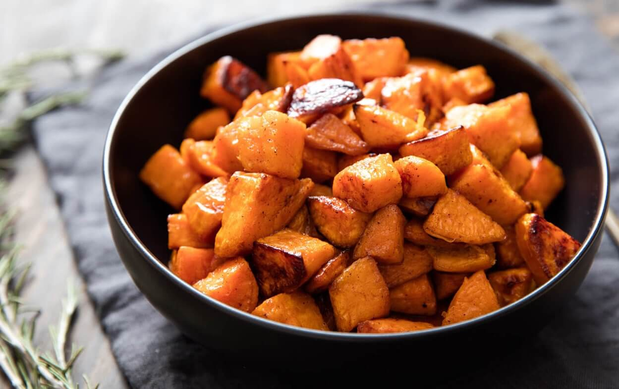 Eating late try these quick healthy easy to digest recipes n1 easy to digest recipes baked sweet potato chunks forumfinder Image collections