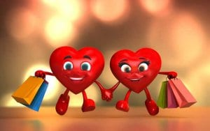 valentine hearts shopping