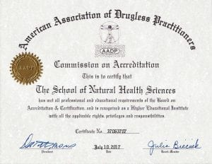 AADP Accreditation Certificate 2017