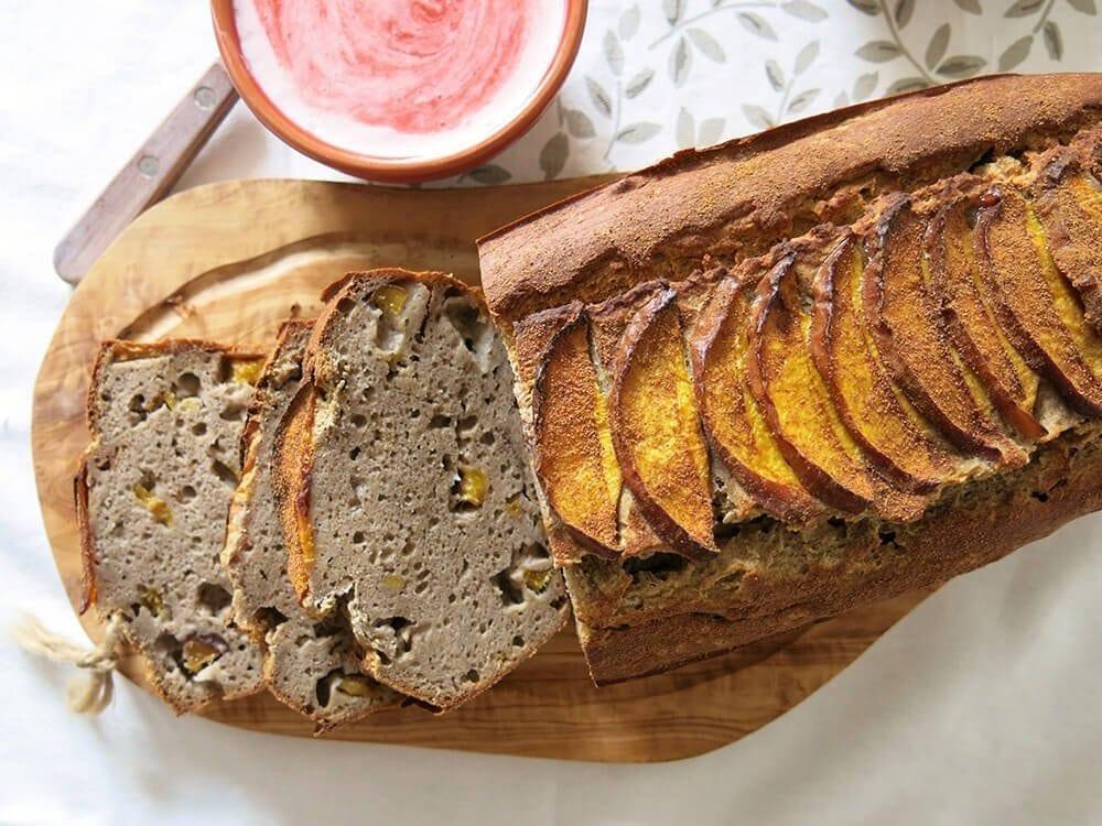 sliced banana loaf