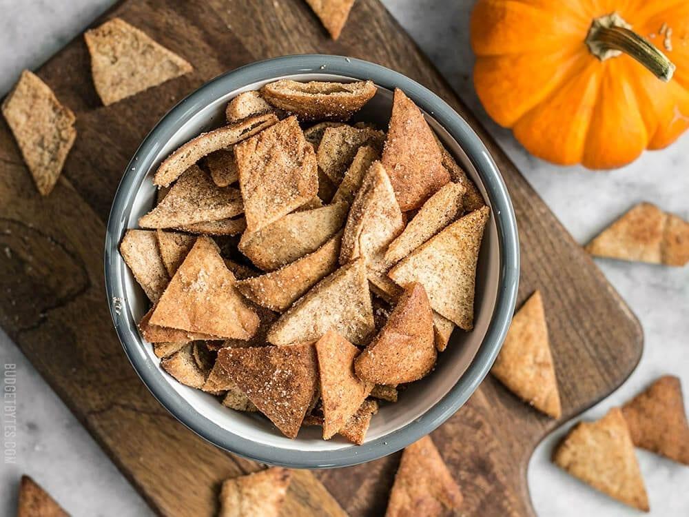 triangles of bread