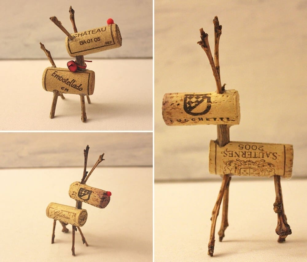 wine cork christmas decorations