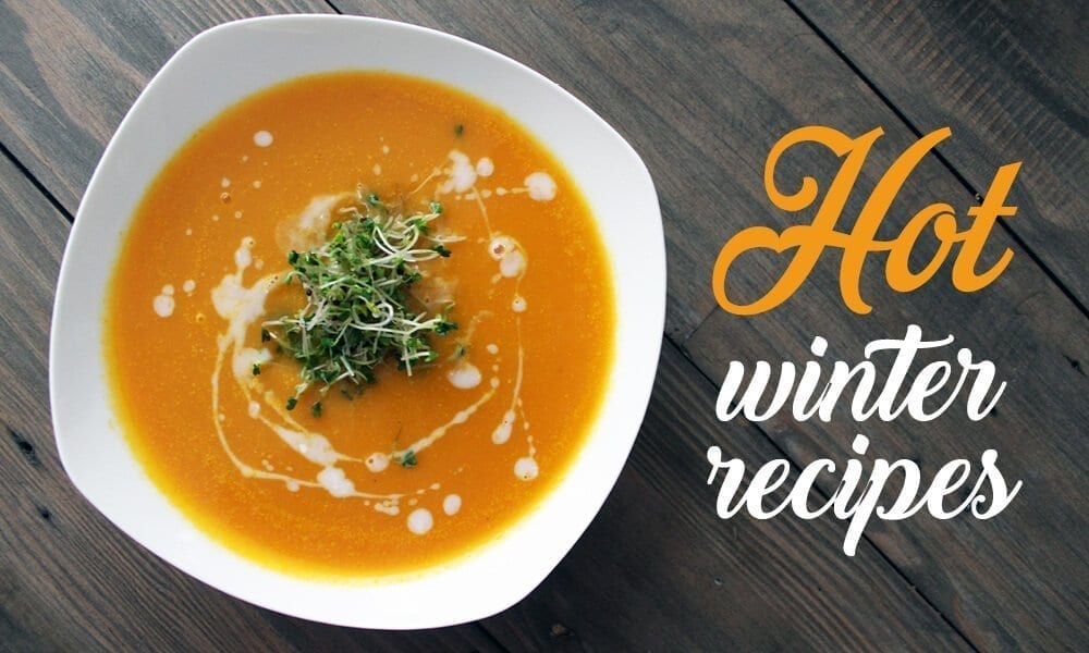 hot winter soup recipe banner