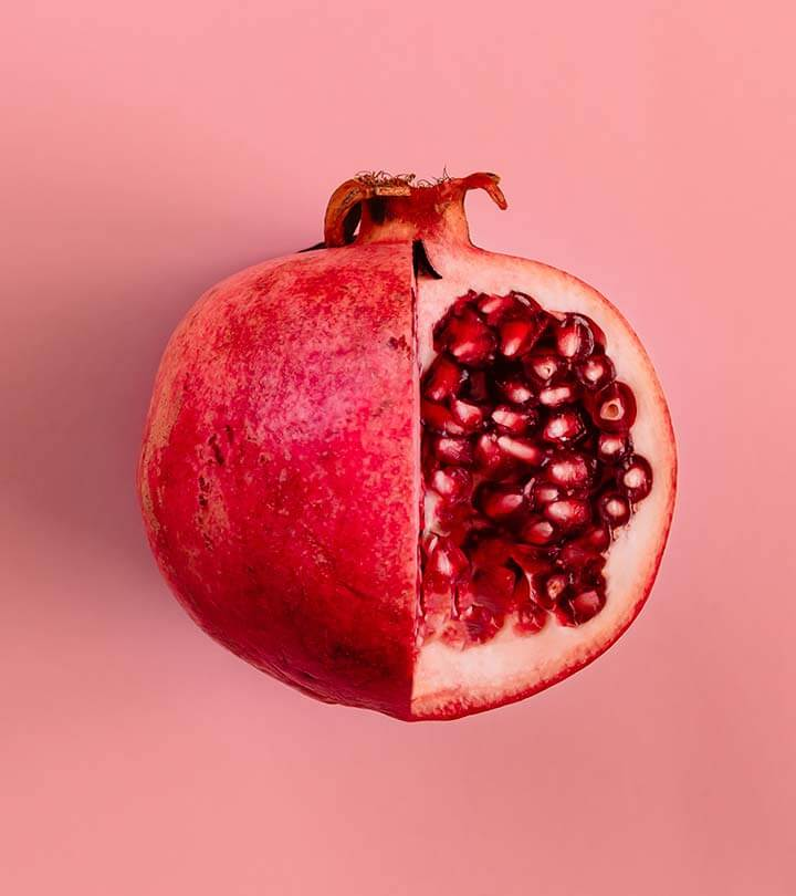 cut pomegranate