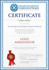 IICT gold ambassador certificate