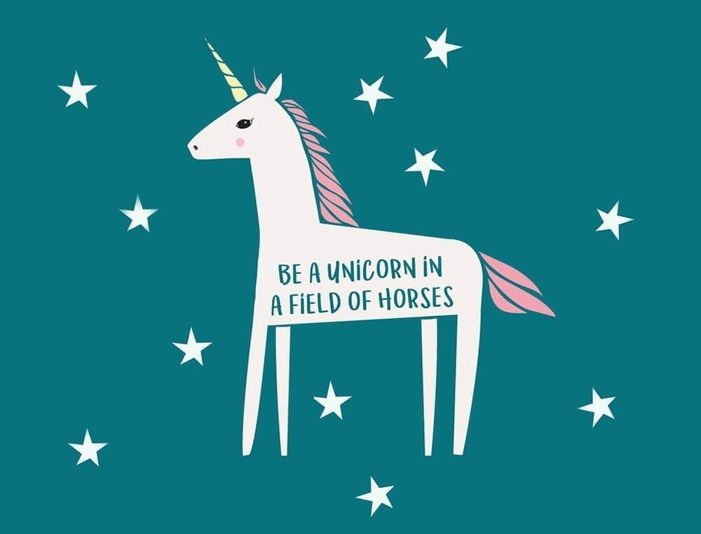 unicorn quote banner