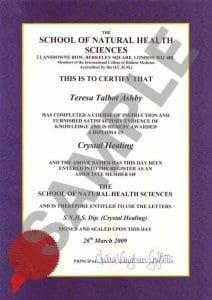 SNHS Sample Diploma