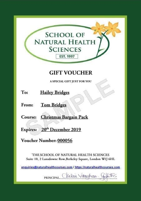 Sample gift voucher